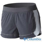 Columbia 女 涼感快排野跑短褲-深灰 【GO WILD】