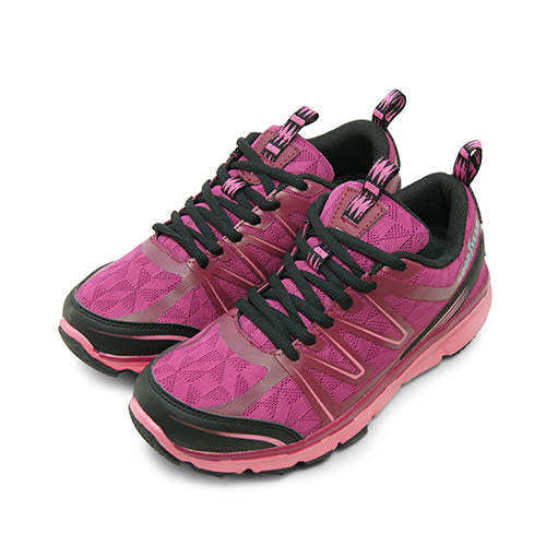 LIKA夢 GOOD YEAR 專業輕量戶外越野避震慢跑鞋 輕旅踏青系列 桃紫黑 72217 女