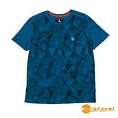 wildland荒野 男 印花棉感抗UV圓領上衣『土耳其藍』0A51626 台灣製造 排汗透氣圓領T恤 T-shirt