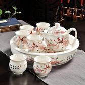 陶瓷功夫茶具套裝整套青花瓷茶壺