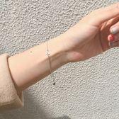 幾何閨蜜手鍊銀質日正韓手鍊女簡約學生森繫個性甜美手飾清新禮物限時八九折