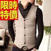 長袖毛衣質感造型-日系率性假兩件式男襯衫 3色59ac47[巴黎精品]