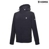 K-SWISS Track Knit Jacket 運動連帽外套-男-黑