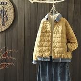 羽絨夾克-白鴨絨-牛仔拼接休閒短款女外套3色73zc32【時尚巴黎】