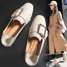 單鞋女2020新款春季平底鞋小皮鞋一腳蹬女鞋子春款懶人豆豆鞋潮鞋 依凡卡時尚
