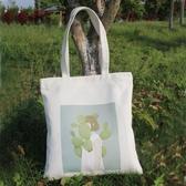 韓國簡約帆布包女單肩手提包環保購物袋