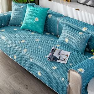 【新作部屋】冰絲乳膠涼感沙發墊-雙人坐墊(多款顏色可挑選)繁花似錦/雙人坐墊