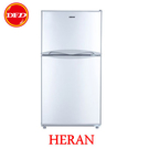 HERAN 禾聯 HRE-B1313 127L雙門電冰箱 127L 雙門 變頻 節能2級 白色 ※運費另計(需加購)