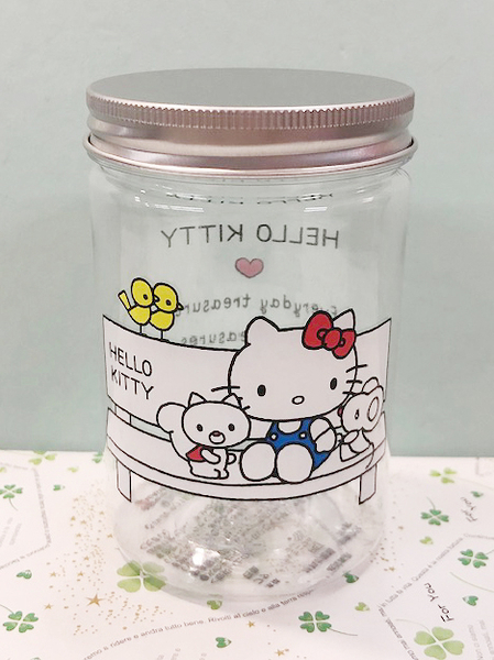 【震撼精品百貨】Hello Kitty_凱蒂貓~KITTY置物收納罐-長椅#06229