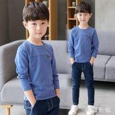 男童長袖T恤2018新款兒童圓領韓版打底衫潮zzy3854『美鞋公社』