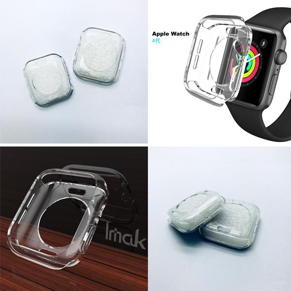 apple watch4 保護套 軟殼 tpu 透明保護套 40mm 44mm 矽膠透明 保護殼 手錶 boxopen