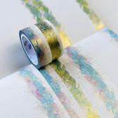和紙膠帶 手帳貼紙 星空海 海波浪 燙金 超美整卷手賬