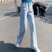 闊腿牛仔褲女夏季薄款2020新款高腰垂感顯瘦直筒泫雅寬鬆拖地破洞 童趣屋