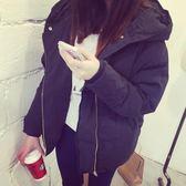 棉衣女面包服加大碼短款學生新款原宿風秋冬保暖休閒連帽外套