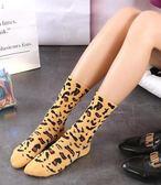 【3雙裝】豹紋襪子 女中筒襪韓版學院風純棉襪子 SDN-0852