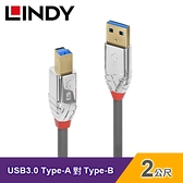 【LINDY 林帝】USB 3.0 TYPE-A公 對 TYPE-B公 傳輸線(2M)