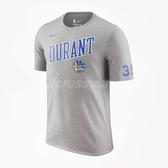 Nike 短袖T恤 GSW Dry Tee Player Kevin Durant 灰 藍 金州勇士隊 NBA 【PUMP306】 AH0074-063