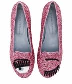 ■現貨在台■ 專櫃價44折 ■Chiara Ferragni CF 806 粉色亮片眨眼低跟樂福鞋 IT 36/38