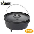 丹大戶外【LODGE】L12DCO3 Camp Dutch Ove 8QT12吋深型附腳荷蘭鍋 鑄鐵材質/會釋放鐵離子使食材更好吃