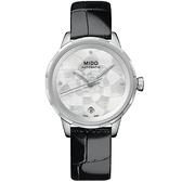 母親節推薦款 MIDO 美度 Rainflower 花雨系列機械女錶-黑/34mm M0432071611600