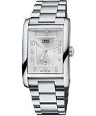 ORIS 豪利時 Rectangular 藝術時尚家機械手錶-銀 0156176934061-0782220