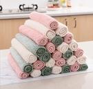 88柑仔店~素雅色珊瑚絨抹布不掉毛擦桌布 廚房吸水清潔布家用洗碗布