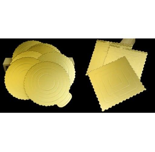 4/6/8吋 金色圓形 方形 蛋糕盒硬紙托 加厚硬蛋糕紙墊 圓形方形蛋糕慕斯底托 生日蛋糕底托