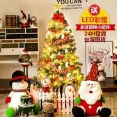 聖誕樹 24H現貨0.6M 1.2M 1.5M 1.8M家用發光套餐裝聖誕節裝飾鬆針聖誕樹仿真樹擺件【免運85折】