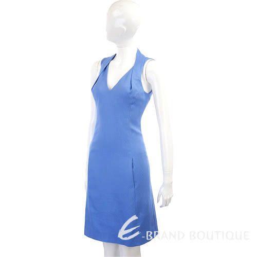 MOSCHINO 藍色繞頸V領露背洋裝 1210402-23