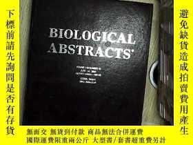 二手書博民逛書店BIOLOGICAL罕見ABSTRACTS ENTRIES VOLUME110 NUMBER12 生物文摘條目卷1