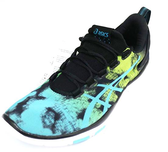 ASICS 亞瑟士 TRAINING GEL-FIT SANA (女) 訓練跑鞋 亞瑟膠 S652N-9039 (黑/藍綠漸層) [陽光樂活]
