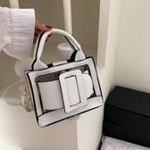 果凍包 手提包女小包手拎包網紅包包質感斜挎2020新款氣質女神果凍小方包 艾維朵