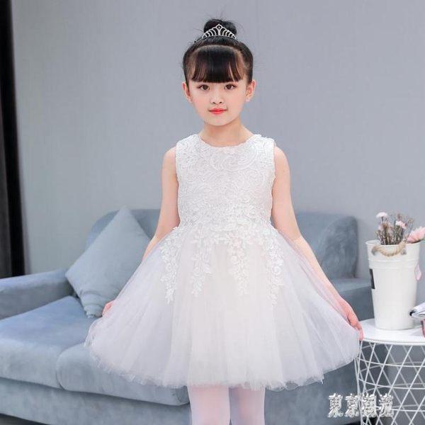 兒童節禮物禮服公主裙蓬蓬花童鋼琴演出服女童小主持人生日洋裝紗裙 LJ3648『東京潮流』