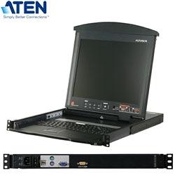 ATEN 宏正 KL1100M 1埠LCD KVM多電腦切換器(雙滑軌/雙介面)