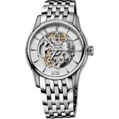 ORIS 豪利時 Artelier Skeleton 藝術家雙鏤空機械手錶-銀/40mm 0173476704051-0782177