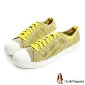 Hush Puppies 玩色針織輕量休閒鞋-黃色