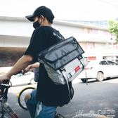 側背包超火學生騎行包男士斜背包潮牌情侶街頭單肩背包女 曼莎時尚