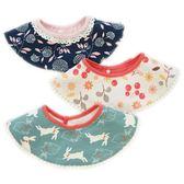 純棉360度圓形寶寶圍嘴韓國豪華嬰兒口水巾兒童時尚印花圍兜 熊貓本
