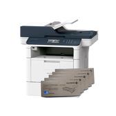 FujiXerox DocuPrint M375z 黑白無線雙面傳真雷射多功複合機 搭五支CT203108原廠碳粉匣