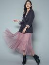 秋冬7折[H2O]多層次抽褶大裙襬長紗裙...