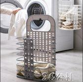 洗衣籃可折疊臟衣籃塑料掛墻收洗衣籃收納籃3C公社YYP
