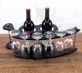 酒架紅酒架創意歐式葡萄實木酒架酒杯架倒掛酒櫃擺件YYP   伊鞋本鋪
