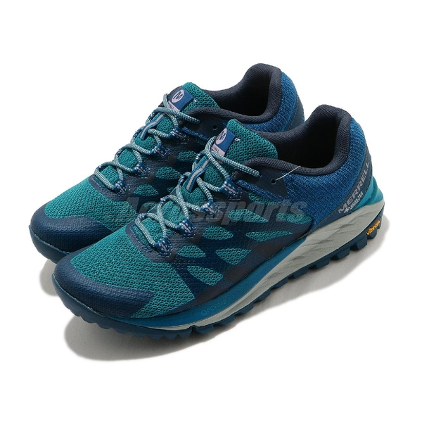 Merrell 戶外鞋 Antora 2 GTX 藍 深藍 女鞋 Gore-Tex 防水 越野 登山 【ACS】 ML035640
