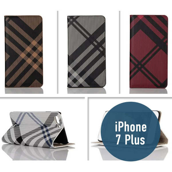 iPhone 7plus (5.5吋 )七號格吸合款 皮套 側翻皮套 支架 插卡 保護套 手機套 手機殼 保護殼
