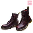 歐美經典款8孔綁帶真皮馬丁靴 短靴 工程...