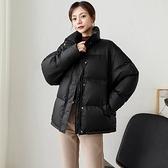 羽絨外套-白鴨絨-短款立領寬鬆時尚女夾克3色73zb2【時尚巴黎】