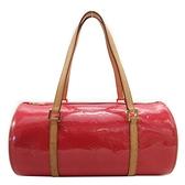 路易威登 LOUIS VUITTON LV 桃紅色漆皮手提包 圓筒包 Bedford M9133F 【二手名牌BRAND OFF】