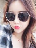 太陽鏡女時尚新款偏光街拍圓臉防紫外線墨鏡大臉韓版潮☌zakka