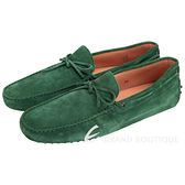 TOD'S GOMMINO 綠色麂皮綁帶豆豆休閒樂褔鞋(男) 1240500-08