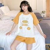 睡衣女夏季薄款純棉短袖韓版學生可愛甜美女士夏天家居服兩件套裝 歌莉婭
